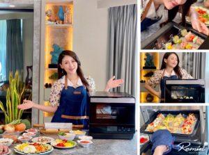 自煮生活更要健康優雅 一台搞定營養師媽媽的澎湃料理-Panasonic蒸氣烘烤爐(NU-SC180B)